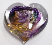 Pet Remembrance Glass Hearts are available in just one size and make a great paper weight.